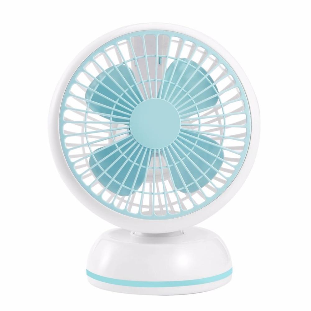 Mini USB Desk Fan 7 Inches Portable Summer Cooling Fan Super Silent Desktop Fan Simple Color Electric Fan For Home Office