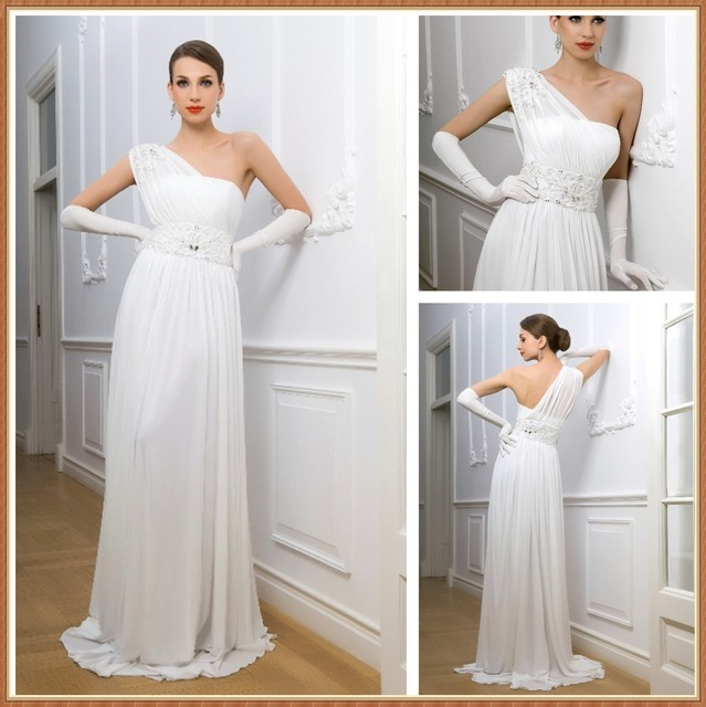 856f1221f0 Greek-style White One Shoulde Dress – Fashion dresses