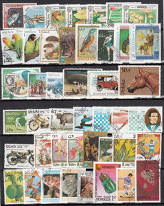 Image 5 - 1900 PCS All Different No Repeat With Post Mark Off Paper Postage Stamps In Good Condition For Collection