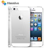 """Original Apple iPhone 5 desbloqueado teléfono móvil iOS Dual-core 4,0 """"8MP Cámara WIFI GPS teléfono usado regalo gratis"""