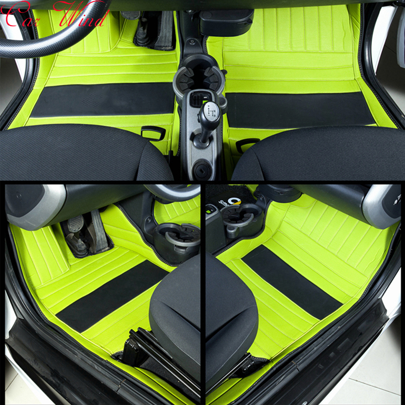 Tapis de sol de voiture en cuir de vent de voiture pour mercedes-benz Smart fortwo forfour quatre saisons Auto imperméable liner tapis accessoires de voiture