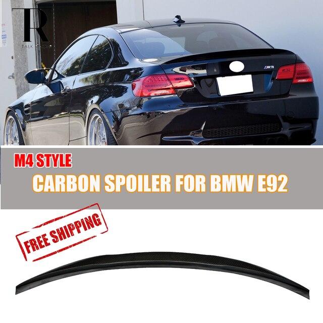 E M Carbon Fiber Rear Lip Wing Spoiler For BMW E Coupe I - Bmw 325i 2011