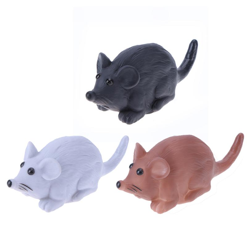 Funny Cat Toy Little Mouse Realistic Playing Rubber Toys For Cat For Dog Pet Kitten Pet Squeaky Chew Toy 3 Color 15 x 6 x 6cm