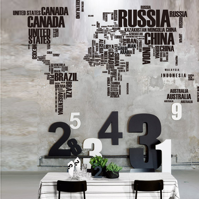 English letters world map 116 190cm bedroom living room video english letters world map 116 190cm bedroom living room video wall stickers wall decoration gumiabroncs Image collections