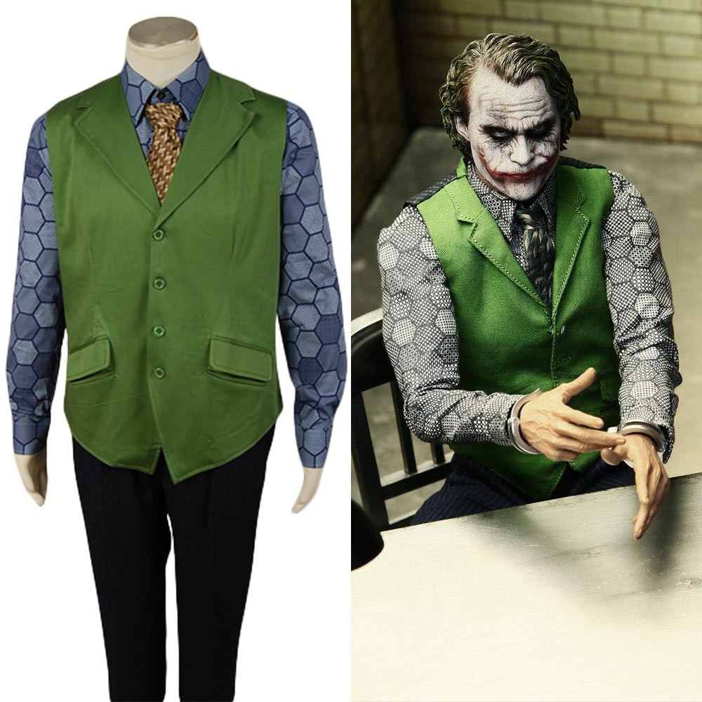 Batman Dark Knight Joker Cosplay Costume Hexagon Tailor Made Accessories Halloween Carnival  For Adult Men