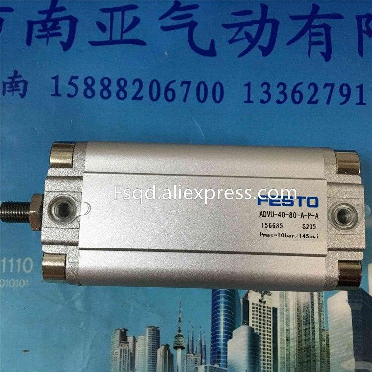 ADVU-40-80/100/160-A-P-A   FESTO Compact cylinders  pneumatic cylinder  ADVU series festo imported cylinder advu 25 160 a p a s6