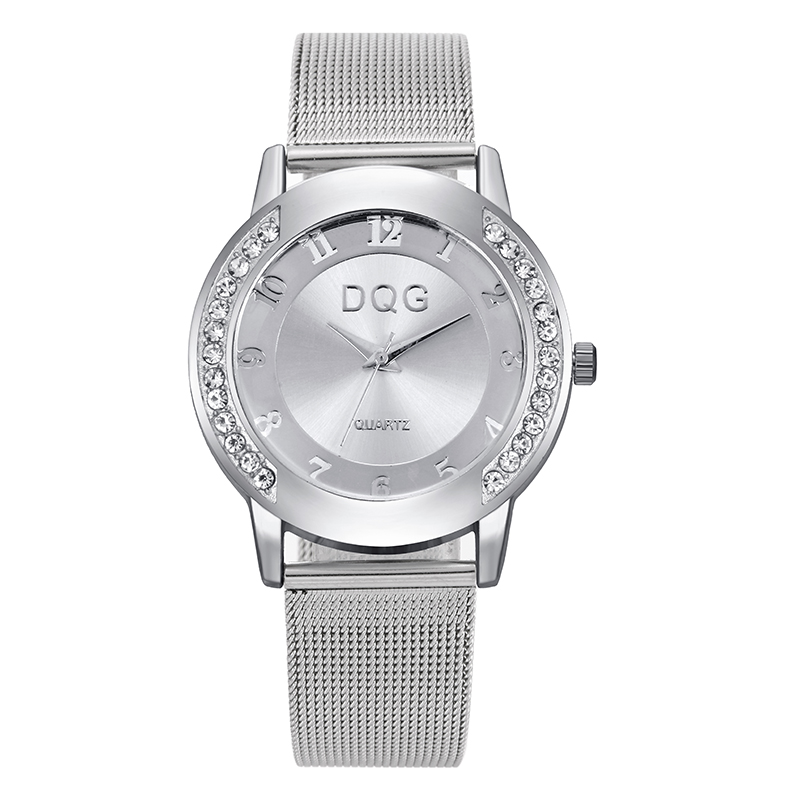 New fashion famous brand silver Ladies watch metal mesh stainless steel dress watches Casual quartz women watches relojes D19 2017 new famous brand men black casual quartz watch women metal mesh stainless steel dress watches relogio feminino clock