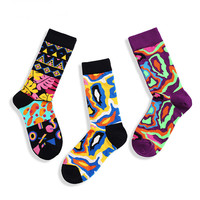 Hippie Streetwear Bottoms Women Socks Fuzzy Ukraine Harajuku Korean Funny Socks Kawaii High Quality Women Fashion 2018 Print WZ