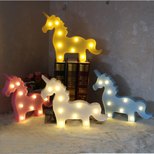 Children Night Light Unicorn Lamp LED light Childrens 3D Colorful Lamps For kids New Year Gift Party lamp