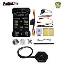 RadioLink Pixhawk PX4 32 Bit ARM Pengendali Penerbangan + NEO-M8N GPS + Power modul untuk RC Quadcopter Multirotor FPV Racing Drone