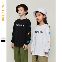 INFLATION Kids Tshirt Modis Casual T-shirts Boys Girls Tops Tees Long Sleeve Tshirts Kids 2019 Autumn Children Clothes ST9222 юбка modis modis mo044ewwhd82