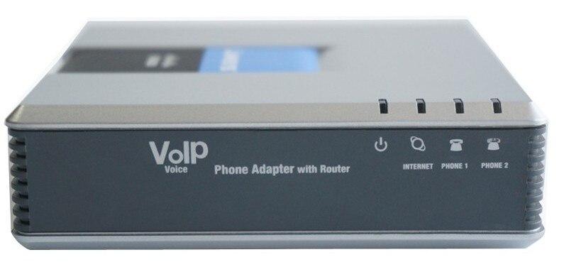 Livraison gratuite! adaptateur de téléphone IP PBX VoIP avec système vocal Linksys SPA9000 V2 débloqué avec routeur pour petit bureau avec boîte de vente au détail