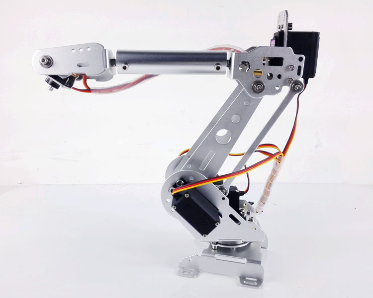 DOIT 6 DOF Metal Mechanical Arm Kit Stainless Steel Manipulator Clamp Claw Machinery Structure Full Set DIY Robot Arm intelligent force and position control of 6 dof robot manipulator