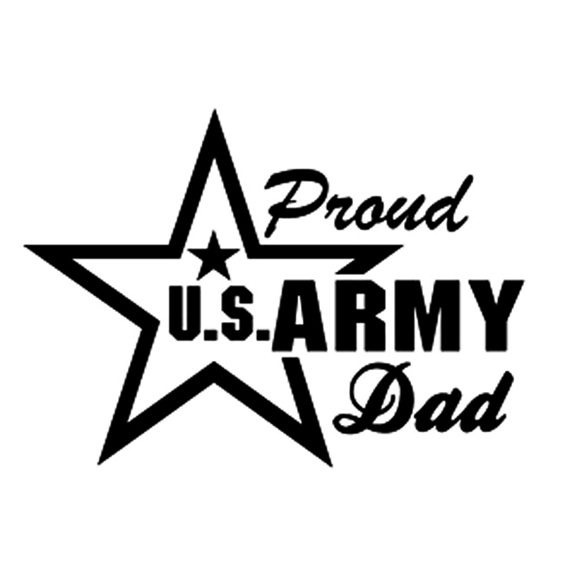 Stickers for Cars Vinyl Car Wrap for Auto or Car Styling fashion car accessories Mom Us Army Sticker Decal In Black or silver car
