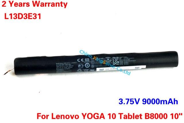3.75 В 9000mAh Новый Оригинальный Подлинный Аккумулятор для ноутбука для батареи 10 дюймов Lenovo YOGA 10 Tablet B8000 Бесплатная доставка
