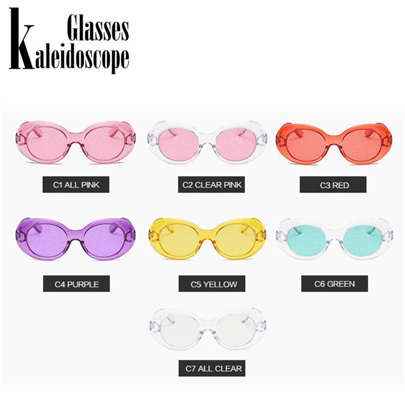 7e30204e3cd Kaleidoscope Glasses Clout Goggles Sunglasses Vintage NIRVANA Kurt Cobain  Sun Glasses Women Clear Color Small Oval Glasses-in Sunglasses from Apparel  ...