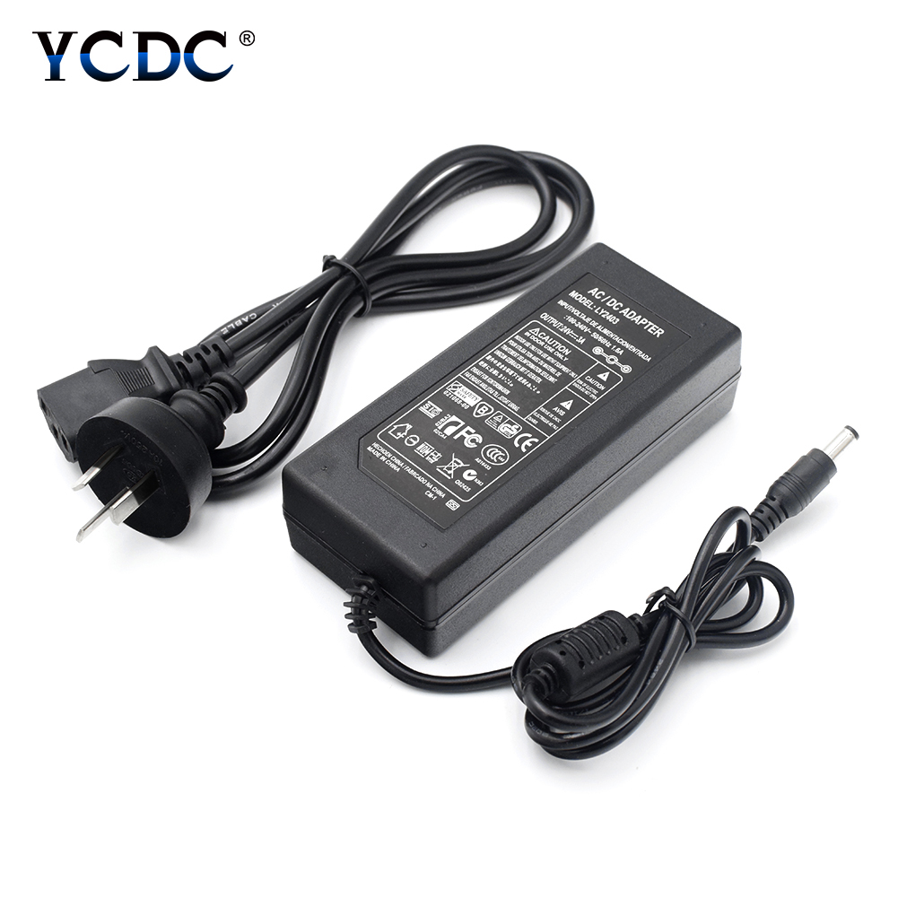<font><b>24V</b></font> 3A Power Supply AC 100V-240V To <font><b>DC</b></font> <font><b>24V</b></font> 3A Power <font><b>Adapter</b></font> UK/US/AU/EU Charger For Audio/Video System LED Strips Light image