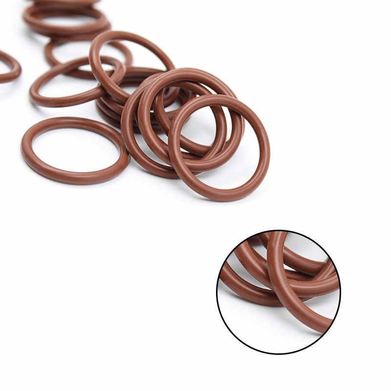 3PCS ยางฟลูออรีนแหวนสีน้ำตาล FKM O ring Seal OD31/32/33/34/35/ 36/37/38/39/40*2.5 มม.ยาง O-Ring แหวนน้ำมันปะเก็น