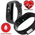 M2 elegante faixa de freqüência cardíaca de pulso oxímetro de oxigênio arterial sports watch homens relógio de pulso smart watch para android ios