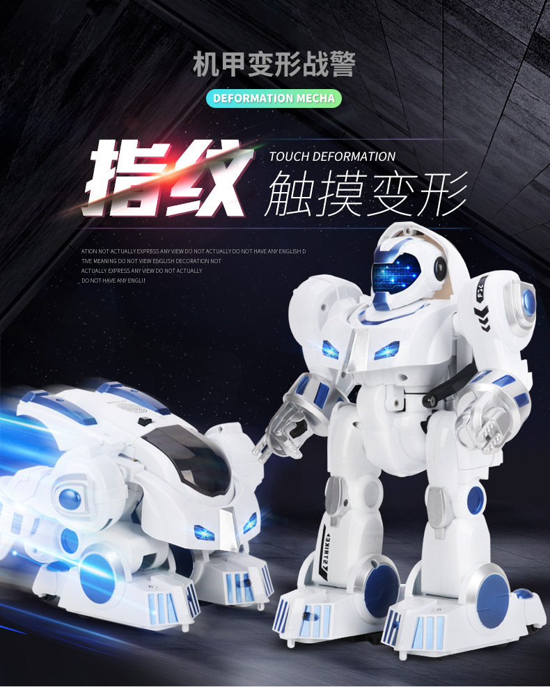 K4 Inteligent Deformation Warlord Programming Remote Control Robot Voice Singing And Dancing Children's Toys 2 4g voice control car one key deformation humanoid intelligent dancing robot toys remote control educational truck robot