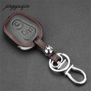 Image 2 - jingyuqin Leather Cover for Ssangyong Actyon Kyron Rexton 2 Buttons Remote Key Case Protect Holder