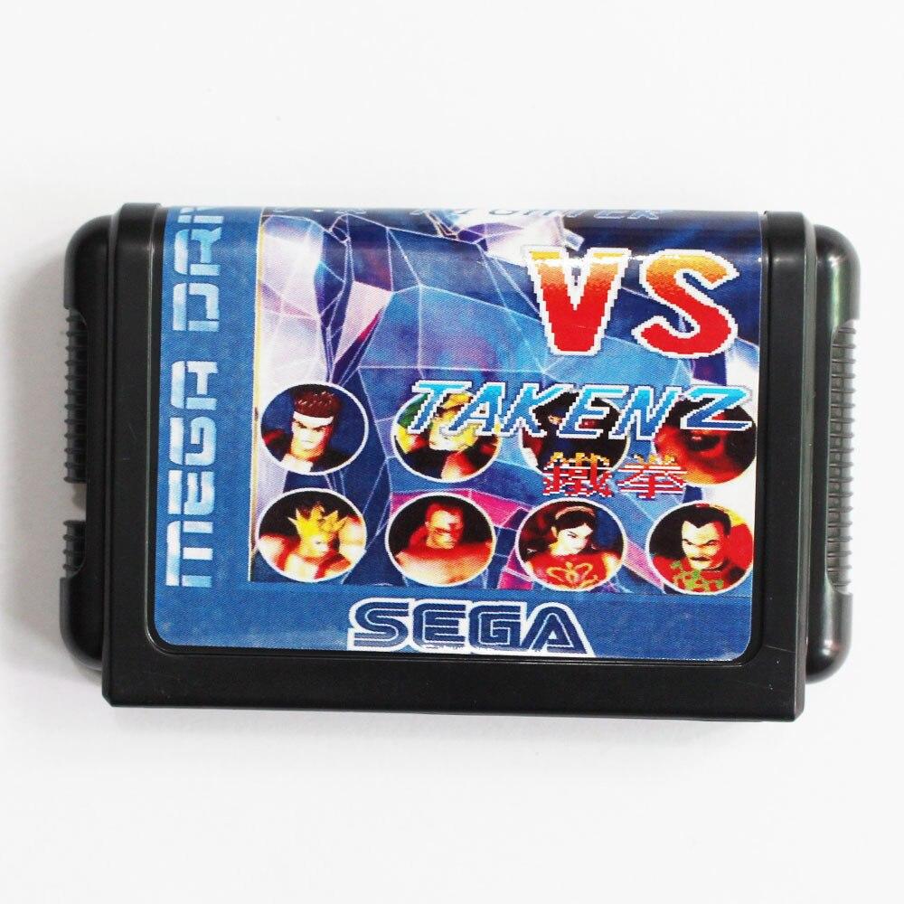 VR Fighter Vs Taken 2 16 bit MD Game Card For Sega Mega Drive For Genesis