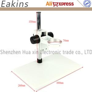 Image 4 - Microscopio estéreo Trinocular 7X 45X con Zoom continuo, soporte de anillo para cabeza de brazo A1, 56 Anillo Led de luz, para reparación de tablero para teléfono