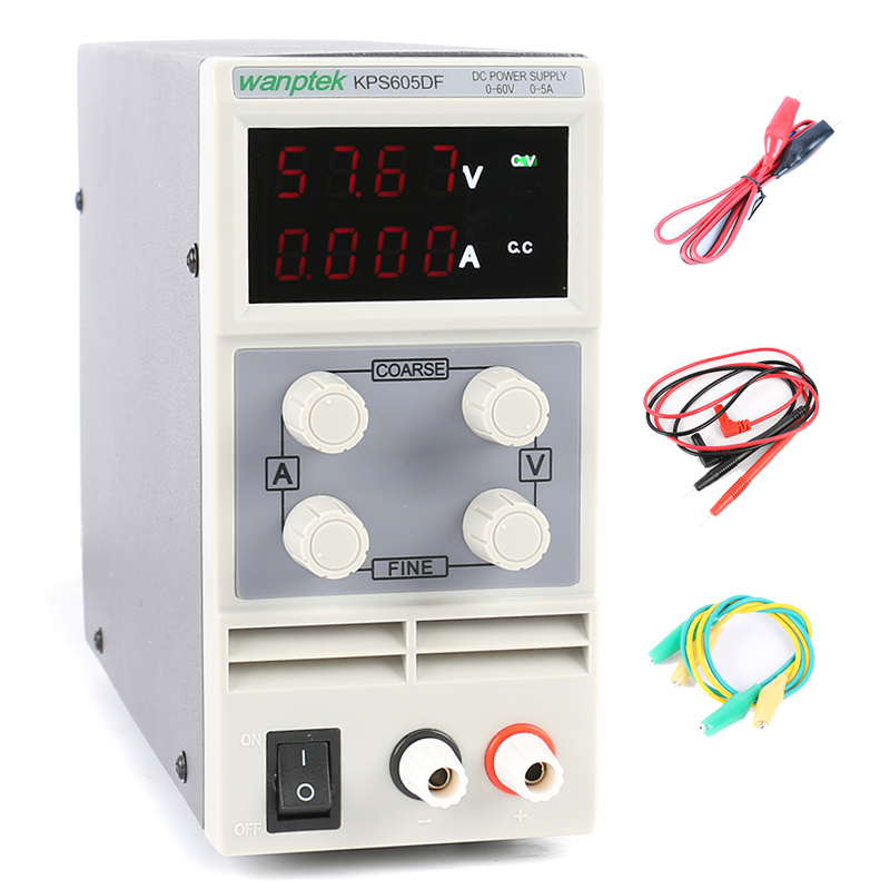 DC Power Supply KPS-605DF 60V 5A Adjustable Digital Laboratory Switching Power Supply 0.01V 0.001A US/EU/AU Plug 110V or 220V kuaiqu mini dc power supply switching laboratory power supply digital variable adjustable power supply 0 60v 0 5a ps605d