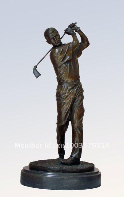 Free shipping door to door! E-shop wholesale&retail--bronze golf sculpture