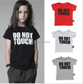 nununu  summer top with do not touch printed t shirts/children clothing bos./vetement enfant reine des neiges garcon fille kids