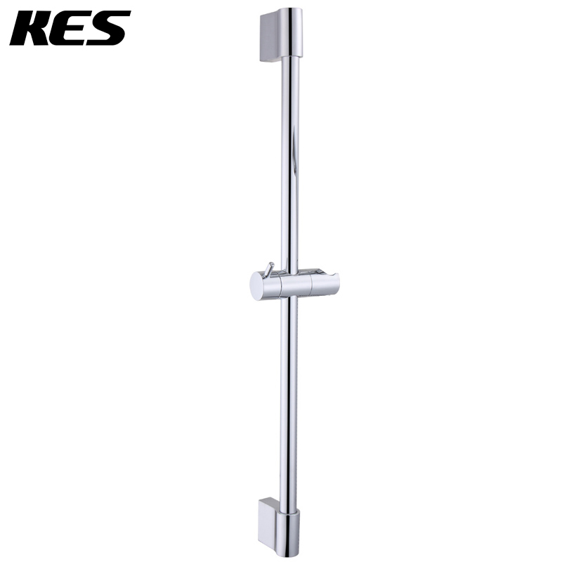 kes f200 hand shower slide bar with height adjustable sliding sprayer holder chrome brushed. Black Bedroom Furniture Sets. Home Design Ideas