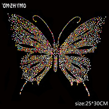 Colorful Butterfly Design Hotfix Rhinestone Heat Transfer Iron Sewing Rhinestone  Motif Embellishment For garment Shoes Sweater ed37cc6c2247
