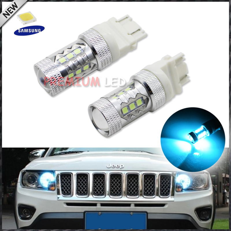 iJDM Super Bright Ice Blue 15-SMD-3535 3157 3156 T25 LED Bulbs For 2011-up Jeep Compass For Daytime Running Lights бутылка 0 4 л asobu ice t 2 go фиолетовая it2go violet