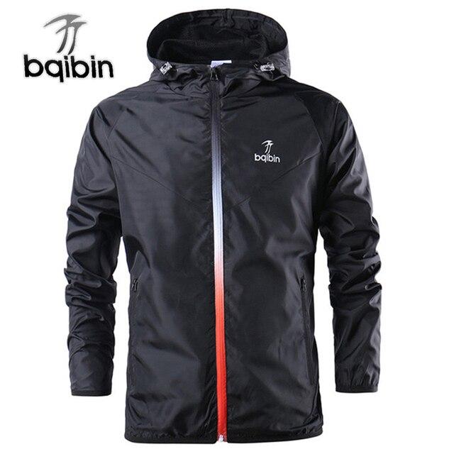 2019 חדש אביב קיץ Mens אופנה הלבשה עליונה מעיל רוח של גברים דק מעילי ברדס מזדמן ספורט מעיל גדול גודל