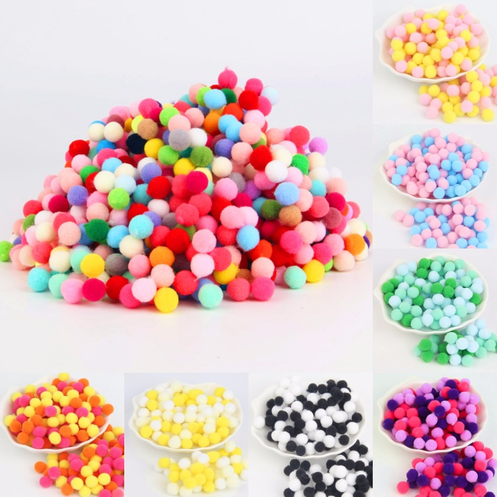 20g(500pcs) Ponpon 8mm Mix Colors Pompom Balls for DIY Party Home Garden Wedding Decoration Sewing Kids Toys Accessories
