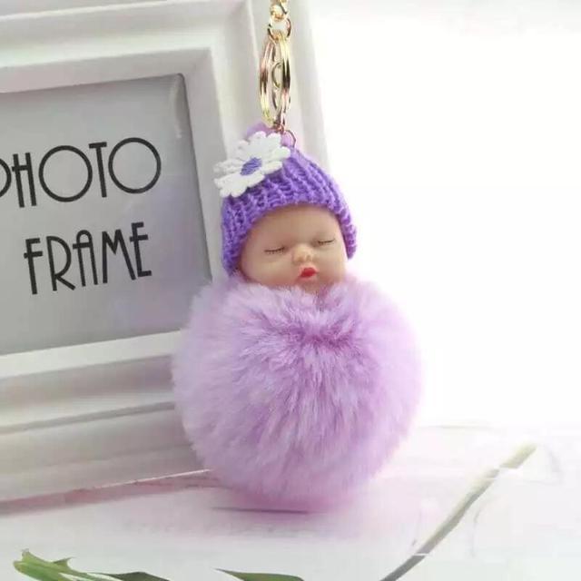 PINXIU Fake Fur Pom Pom Mulheres Cadeia Bugiganga Chave Anel Chave Do Carro Chaveiro Presente Da Jóia Chaveiro em Saco Macio 2019 nova Moda