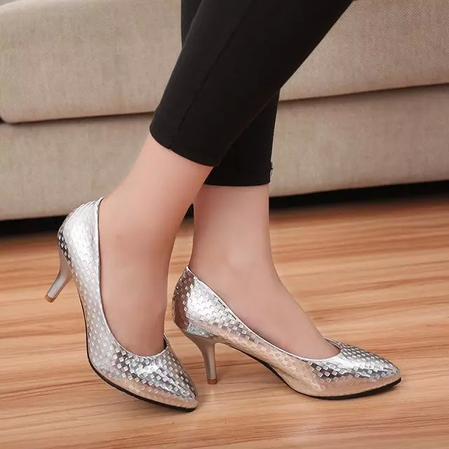 Aliexpress.com : Buy 2016 spring autumn thin low heels 7cm pointed