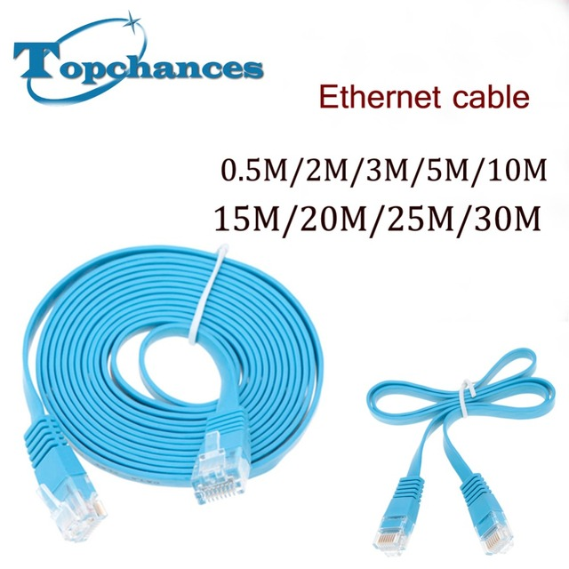 10x High Speed Cat6 Ethernet Flat Cable RJ45 Computer LAN Internet Network Cord 0.5m 2m 3m 5m 10m 15m 20m 25m 30m High Quality