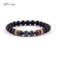 WML 8mm natural stone flash Beads men bracelet Pave CZ Double Round Charm Bracelets & Bangles for men Luxury Jewelry kang hua 2018 popular 5 colors 8mm stone charm bracelet classic pave cz gold skull bracelets for men