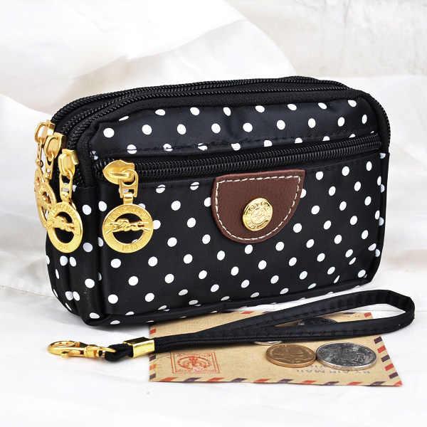 Venda quente senhora bolsas bolsas femininas bolsas curtas lona pontos zíper moneybags embreagem moeda bolsa carteira cartões chaves sacos burse