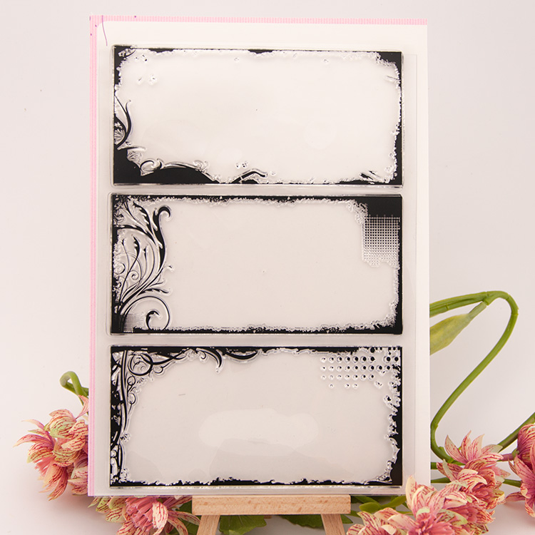 Bookmark square box Transparent Clear Silicone Stamp/Seal for DIY scrapbooking/photo album Decorative clear stamp sheets A271 lovely animals and ballon design transparent clear silicone stamp for diy scrapbooking photo album clear stamp cl 278