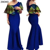 African clothing women dress Nigerian wedding party dress wax fabric maxi plus big size dashiki ankara dress new arrive