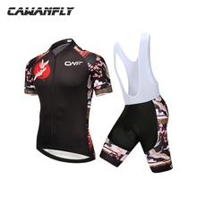2018 new Men Anti-Shrink  Cycling Jersey Mtb Sports  Spring Summer Bicycle short Sleeve sets ropa Clothing 9D Silica gel cushion
