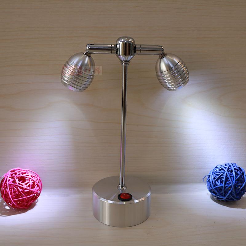 Battery LED Spotlight lamps aluminum window display light