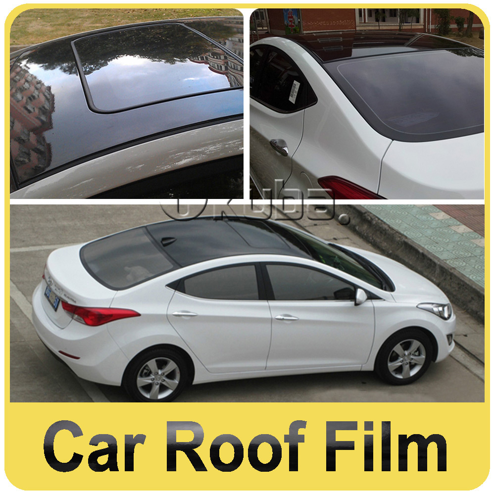 Sticker design for black car - Fedex Free Shipping 3 Layers Glossy Black Car Roof Film With Air Bubble Free For Auto