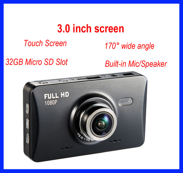 GT500 Car Camera / DVR 1920X1080 3.0 inch Touch Screen Support Motion Detection, G Sensor, parking monitoring With TF Card slot