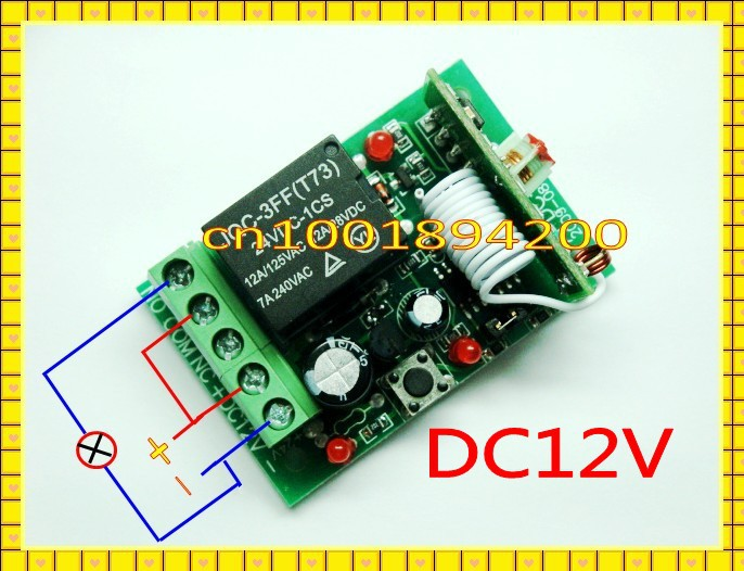 RF RC пульт дистанционного управления Переключатель 12 в 1 CH 10A реле приемник передатчик беспроводной выключатель света универсальная дверь Openner для продажи