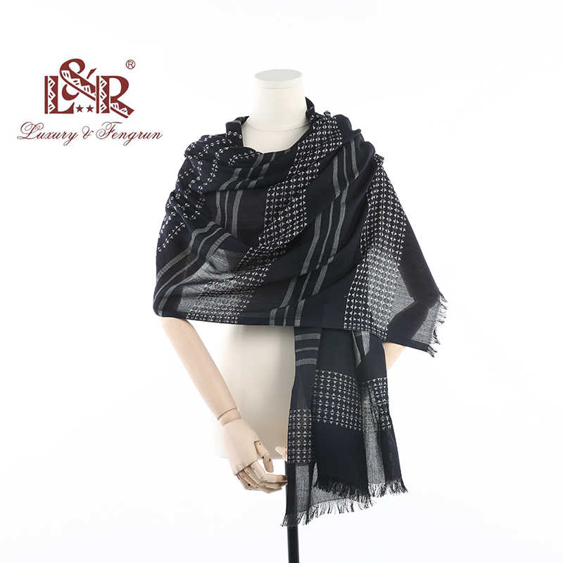 2018 Luxury Brand Autumn Winter Women Scarf for Ladies Geometric 100% Cotton Female Scarves Foulard Femme Shawls And Capes