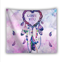 2019 Simple Retro Style Dreamcatcher Full Range Of Hot Sale Background Wall Digital Printing Small Fresh Tapestry ZBS765(China)