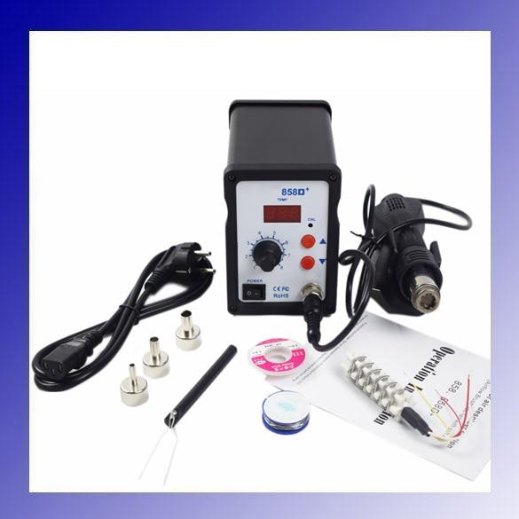 700W 858D+ ESD Soldering Station LED Digital SMD Solder Blowser Hot Air Gun термофен 858d smd